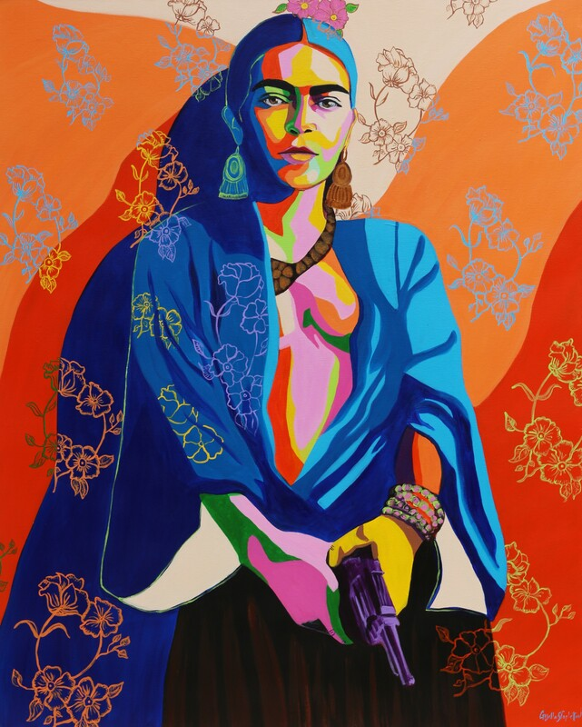 Rebel. Frida Kahlo Acrylic on canvas 150x120cm